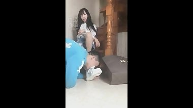 Chinese foot femdom domination lick shoes trample mistress humiliation