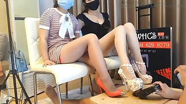 asian beauty footjob and shoejob 5