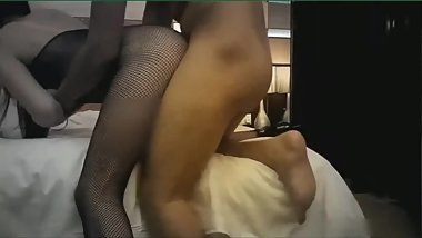 Asian Teen in Black Nylon Fetish
