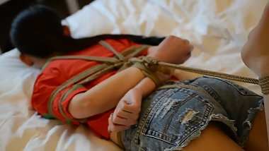 Very beautiful Chinese college student model playing bondage #3