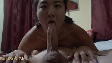 69 upside down DEEPTHROAT and ANAL with asian girlfriend