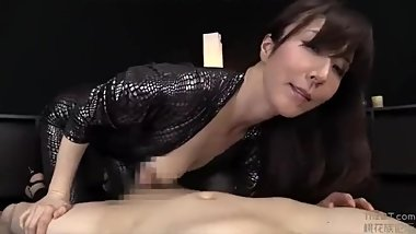 beautiful chinese girl sucks dick ,play with cum and swallow at last