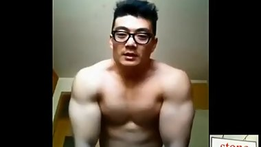 chinese handsome hunk man big dick