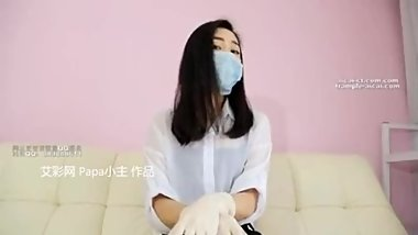Chinese femdom latex gloves