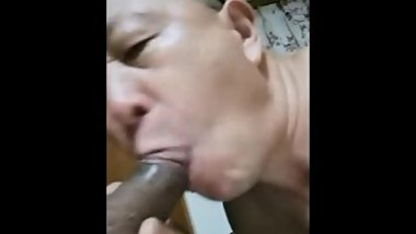 Chinese old man fucking daddy on webcam