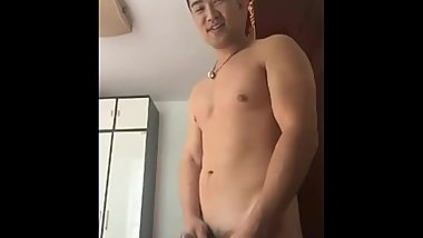 Chinese muscle webcam and cumshot 6