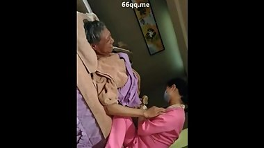 Chinese old man SPA Handjob