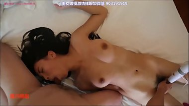 Chinese model POV tail butt plug play with toys and fucked