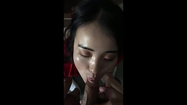HOT ASIAN SLUT GF SUCKS AND GETS A POUNDING BY THE DICK