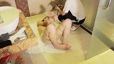 Chinese shower amateur bondage