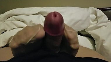 My girlfriend plays with my dick