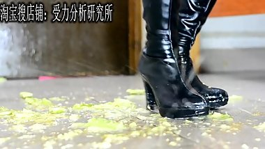 Chinese food crush in Long cosplay boots