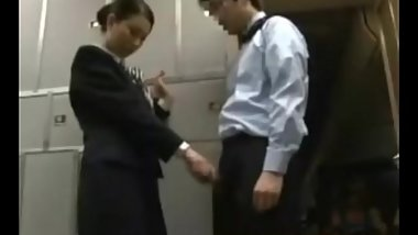 JAV nervous flight attendant (English/Japanese dub, Chinese sub)
