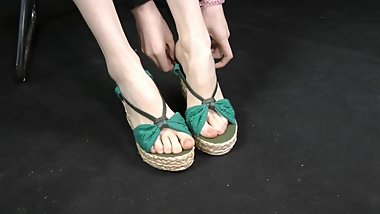 CZZ-420 花花美足 chinese sandal foot