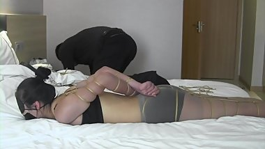 Asian Blindfold Bondage and Gagged