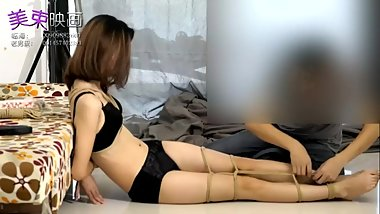 Asian Girl Hogtied