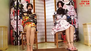 Asian Bondage and Gagged Duo