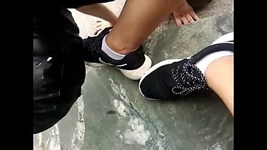 Asian Foot Worship-chinese Outdoor Foot Dominate