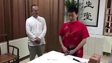 Chinese cock training 磚頭練屌