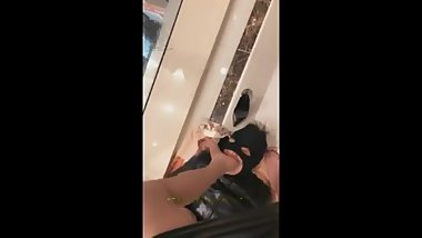 Chinese Mistress Mall foot gagging