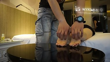 Chinese girl feet tickle