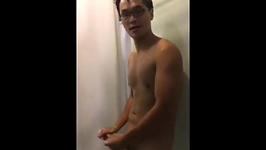 Chinese shower jerk off