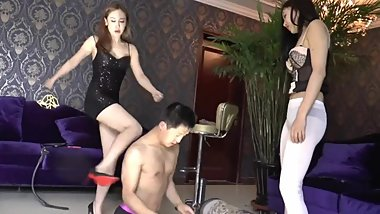 Chinese Femdom Double Domination