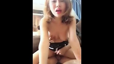 Mixed Chinese Cam Girl Fucked During Dinner
