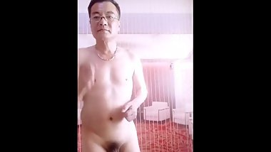 Old Man Naked Dancing