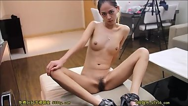 Wild chinese nude model attractive portrait video