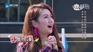 Wicked Chinese boy's tongue playing with balls on national tv!