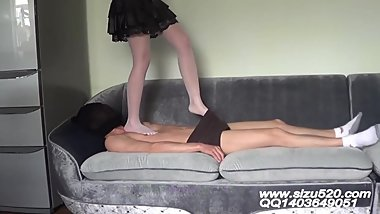 Sexy Pantyhose Trample