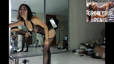 Nude Asian Dancing Seductively