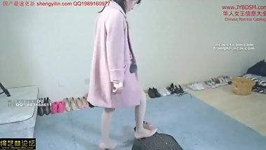 Chinese throat stomping in high heels