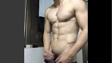 Muscular Chinese with Glasses