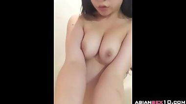 Chinese girl show her body in bathroom