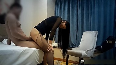 Black stocking secretary in scandal with boss
