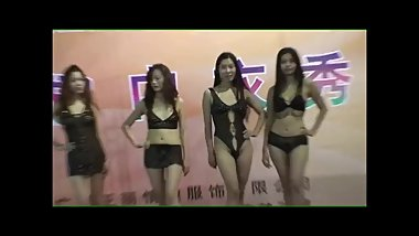 China lingerie show....Very sexy Chinese ladies