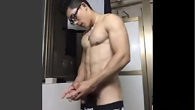 Chinese straight guy cum 5
