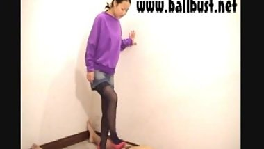 Old ballbust.net video Coco ballbusting