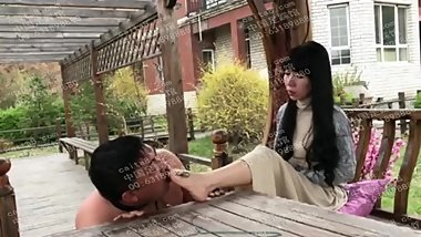 chinese goddess public foot humiliation