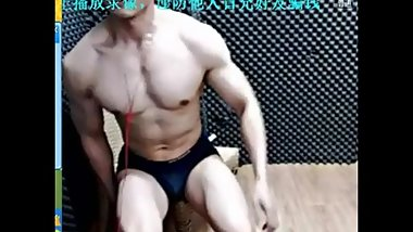 Chinese Big Muscle Jerk Off and Moaning