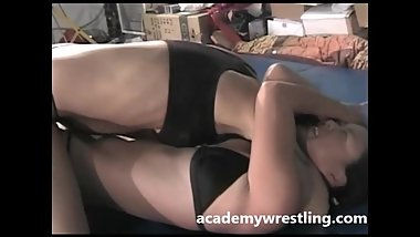 Lesbians Hard core Sex on Academy wrestling