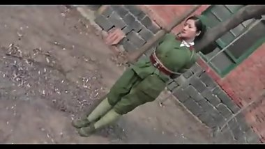 Chinese Military Girl In Bondage