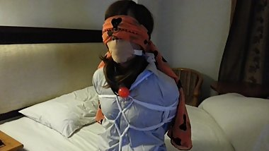 Chinese Girl tied up and gagged