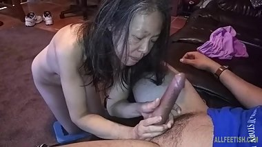 Asian Chinese wife measuring