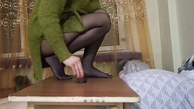 chinese nylon footjob slave