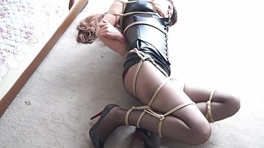 chinese model tied up and left