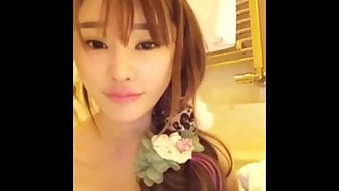 hot chinese girl presents her body