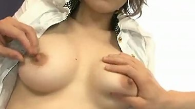 Sexy young asian with hard perky nipples